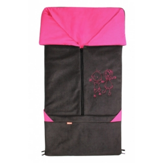 Emitex FUSAK 2V1 FANDA FLEECE - ANTRACIT / FUCHSIA